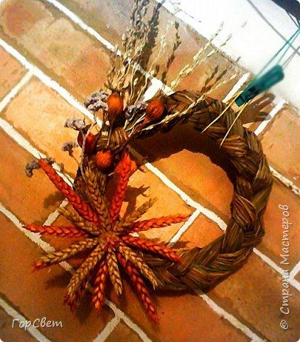"""Интерьерные """"рождественские"""" веночки из сухоцветов и травы. фото 3"""