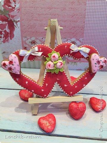 Всем доброго времени суток!:)) Валентинов день не прошёл без пряников, вот такие сердечки у меня нарисовались.  фото 1