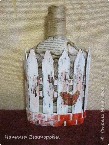 Сделала подруге на юбилей бутылочку, имениннице вроде понравилась!  фото 6