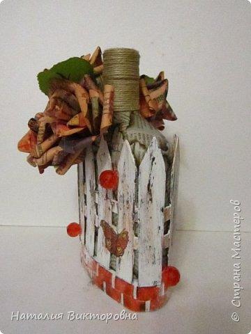 Сделала подруге на юбилей бутылочку, имениннице вроде понравилась!  фото 9