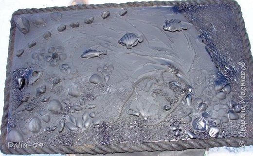 Всех приветствую!Нашлась еще одна старая сковородка и превратилась в панно для летней террасы.Предыдущие сковородочные панно здесь (http://stranamasterov.ru/node/1004433).Это будто бы слоник. фото 16