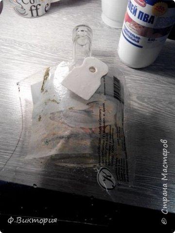 """Добрый день мастерицы! Сегодня хочу вам показать, как я делала бутылочку """"Рыбалка"""".   фото 5"""