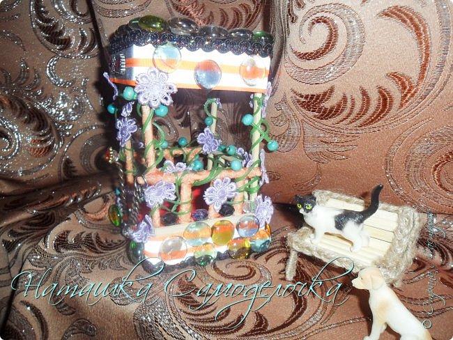 Всем привет.Вот такая сказочная беседка получилась,а еще есть скамейка и кошка с собакой.Приятного просмотра! фото 5