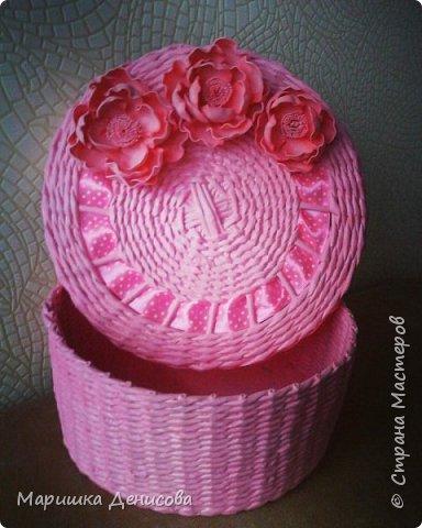 мое вдохновение к восьмому марта,нежно розовая шкатулочка с цветами ручной работы из фома