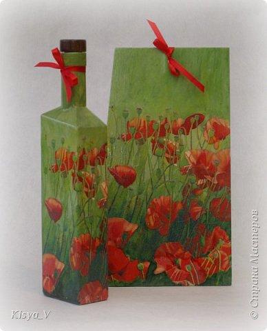 """Здравствуйте, дорогие жители Страны! Вот наваяла к празднику:)! Спасибо Кларе Цеткин и Розе Люксембург за дополнительную возможность дарить подарки! Да, и весна наступает... чем не повод обновить что-то  в жизни.... и на кухне:))).  Итак, набор """"Маки"""". Ну очень захотелось ярких красок и сочности!  фото 3"""