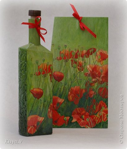 """Здравствуйте, дорогие жители Страны! Вот наваяла к празднику:)! Спасибо Кларе Цеткин и Розе Люксембург за дополнительную возможность дарить подарки! Да, и весна наступает... чем не повод обновить что-то  в жизни.... и на кухне:))).  Итак, набор """"Маки"""". Ну очень захотелось ярких красок и сочности!  фото 4"""