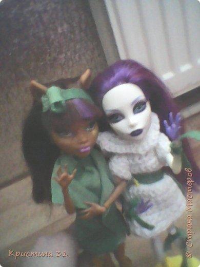 Привет всем)) Мы новые жители Страны Мастеров! Я хочу вас познакомить с моими куклами МХ. Клодин и Спектра. (Но имена у них другие)  (Приношу свои извинения за качество)  И мое имя не Кристина, а Алина.. Но для всех я Али) фото 1