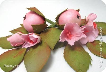 А теперь хочу Вам показать цветы из тонкого Иранского фоамирана Ободок с разноцветными розочками на заказ фото 4