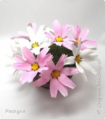 А теперь хочу Вам показать цветы из тонкого Иранского фоамирана Ободок с разноцветными розочками на заказ фото 5