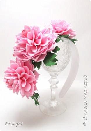 """Вот и продолжение))) Заколка -автомат с розами """"Утренняя свежесть"""" фото 7"""