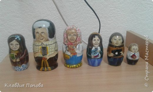 Матрешки семья