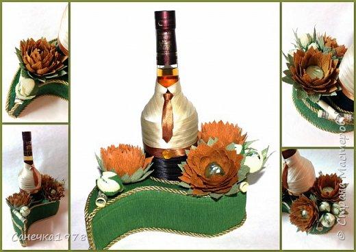 """Декор напитка .  В составе конфеты : """"Трюфели"""" и """"Марсианка Ассорти"""" ,флористический материал.  фото 1"""