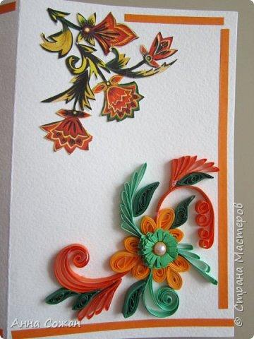 """Добрый день друзья! Хочу показать Вам несколько вариантов открыток, которые сделали мы к  8 марта  с моими учениками в студии """"Бумажные фантазии"""". У меня  нашлось несколько старых открыток с 8 марта. Мы использовали их в качестве аппликации и дополнили цветами из квиллинга и  модными платьями.  фото 3"""