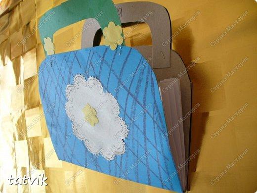 Такие сумочки смастерили ребята 5-6 лет для мам. фото 3