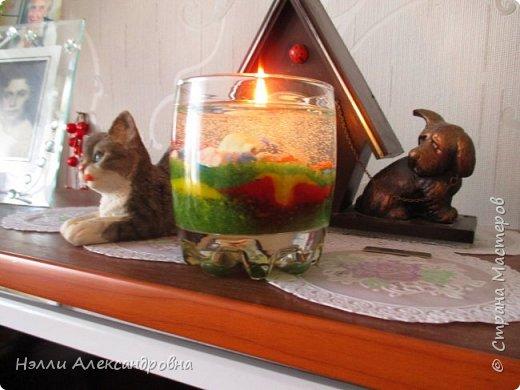 Сделала в подарок гелевые свечи. Жаль, что фото при дневном свете. фото 1