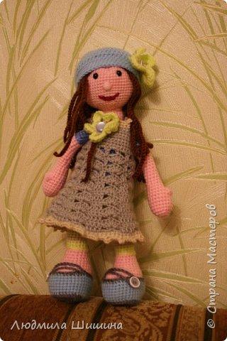 Здравствуйте! Я опять с игрушкой!  В этот раз связала вот такую куколку. фото 1
