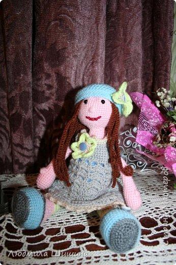 Здравствуйте! Я опять с игрушкой!  В этот раз связала вот такую куколку. фото 3