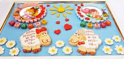 Все когда-то бывает впервые )))) Попросили меня сделать метрики для замечательных близняшек, которые родились в год овцы... Главным пожеланием было то, чтобы на панно были барашки )))Ох! Сколько я их перелепила ))) но вот эти, взятые со СМ http://stranamasterov.ru/node/866229 у Сергеенко Елены за идею, подошли лучше всех, за что Елене огромное спасибо! Своих мозгов не хватило )))  Ну и в итоге вот, что получилось Фотографии малышей заказчица попросила закрыть, за что я совсем не в обиде )))  фото 4