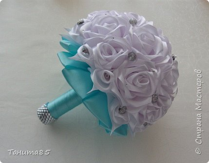 Букет-дублер невесты для свадьбы в стиле Тиффани фото 1