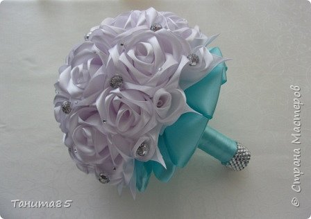 Букет-дублер невесты для свадьбы в стиле Тиффани фото 3