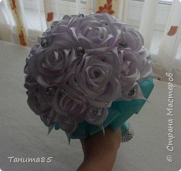 Букет-дублер невесты для свадьбы в стиле Тиффани фото 4