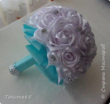 Букет-дублер невесты для свадьбы в стиле Тиффани фото 5