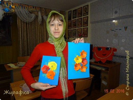 Эти панно сделала Горбунова Настя, 15 лет. Пятицветковое для конкурса, а состоящее из трёх маков останется на стенде. фото 18