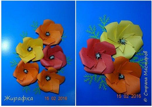 Эти панно сделала Горбунова Настя, 15 лет. Пятицветковое для конкурса, а состоящее из трёх маков останется на стенде. фото 1