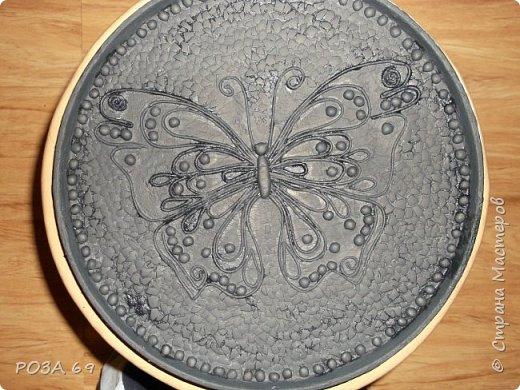 Увидела у Grilena http://stranamasterov.ru/blog/214651 такую бабочку и пропала..... А в один прекрасный день села и сповторюшничала ее себе. Надеюсь, она на меня не обидится. фото 3