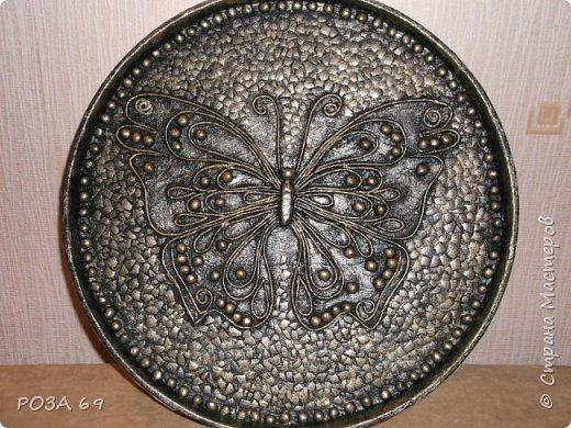 Увидела у Grilena http://stranamasterov.ru/blog/214651 такую бабочку и пропала..... А в один прекрасный день села и сповторюшничала ее себе. Надеюсь, она на меня не обидится. фото 4