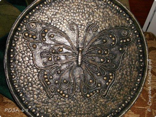 Увидела у Grilena http://stranamasterov.ru/blog/214651 такую бабочку и пропала..... А в один прекрасный день села и сповторюшничала ее себе. Надеюсь, она на меня не обидится. фото 1