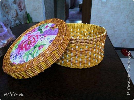 Моя первая шкатулки и первый опыт по ситцевому плетению. фото 1