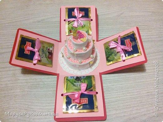 Вот такой подарочный нежный не калорийный торт подарила коллеге :)  фото 2