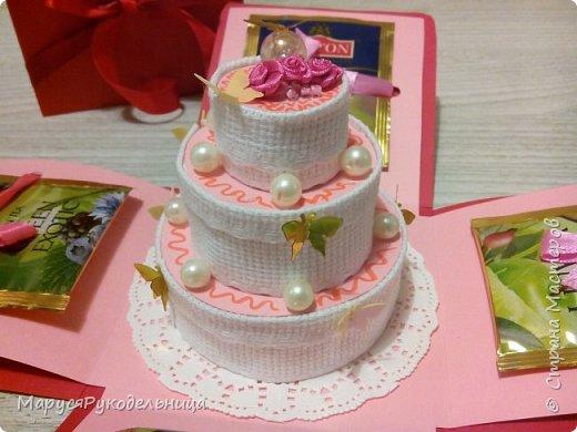 Вот такой подарочный нежный не калорийный торт подарила коллеге :)  фото 3