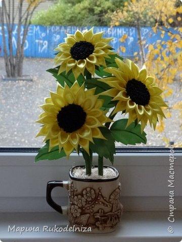 Атласные цветы фото 5
