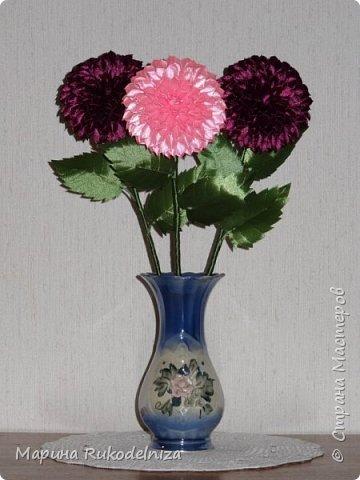 Атласные цветы фото 7