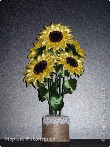 Атласные цветы фото 6