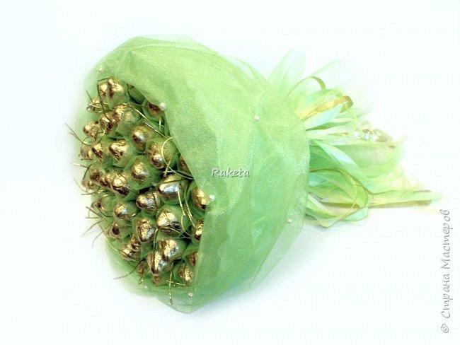 Всем привет! Хочу поделиться с Вами сладеньким!  сделала букет в таком приятном свежем весеннем цвете фото 1