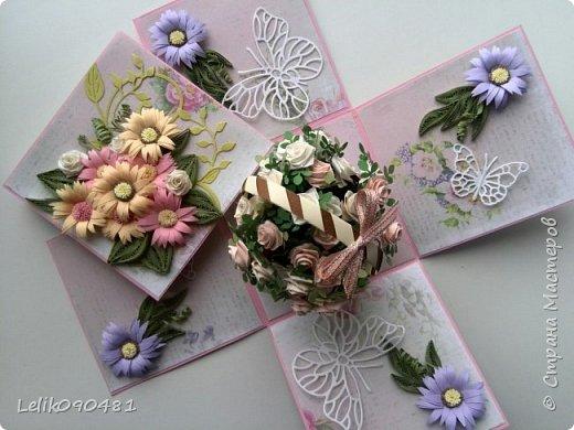 коробочка с розами на заказ фото 2