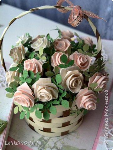 коробочка с розами на заказ фото 5
