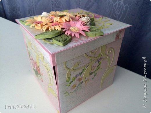 коробочка с розами на заказ фото 6