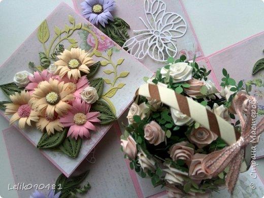 коробочка с розами на заказ фото 3