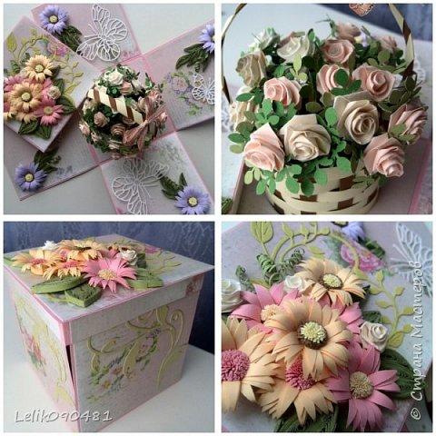 коробочка с розами на заказ фото 1