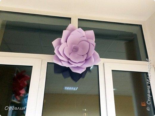 Нашла на просторах интернета замечательную идею по украшательству свадебных залов, и подумала - почему бы и ДА?  Итак, в преддверии весны и 8 марта украшаем класс бумажными цветочками. фото 22