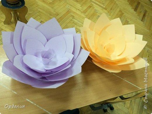 Нашла на просторах интернета замечательную идею по украшательству свадебных залов, и подумала - почему бы и ДА?  Итак, в преддверии весны и 8 марта украшаем класс бумажными цветочками. фото 12