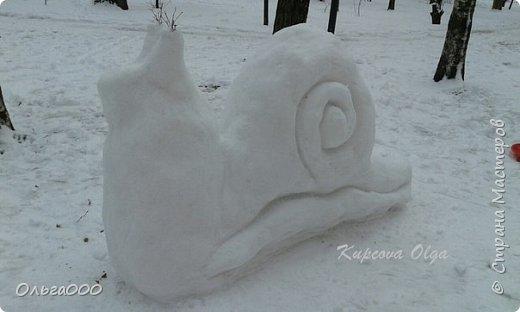 Улитка из снега фото 2