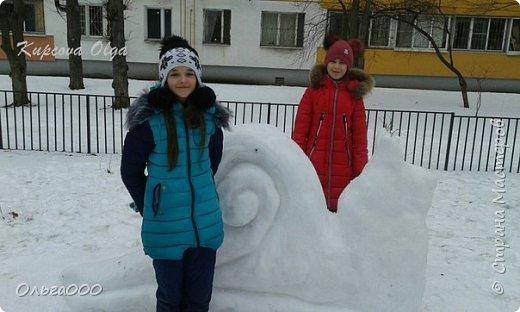 Улитка из снега фото 4