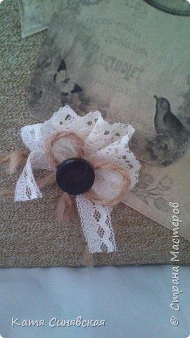 Вот такой наборчик сделала себе на работу. Использовала разные баночки, картон, а для декора ткань, кружево, мешковину, шпагат и кожу. фото 4