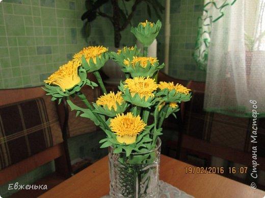 """В детском саду проходит выставка цветов. Вот такие """"солнышки"""" получились у нас с дочкой благодаря замечательным МК замечательной мастерицы Олечки Сыротюк (Сафинка). Олечка, спасибо огромное!!!! фото 3"""