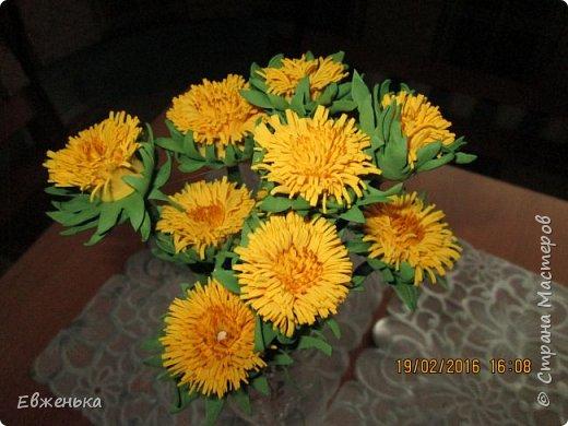 """В детском саду проходит выставка цветов. Вот такие """"солнышки"""" получились у нас с дочкой благодаря замечательным МК замечательной мастерицы Олечки Сыротюк (Сафинка). Олечка, спасибо огромное!!!! фото 5"""